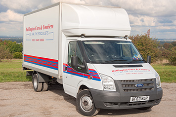 Large van with tail lift same day delivery company