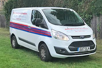 Same day delivery service van